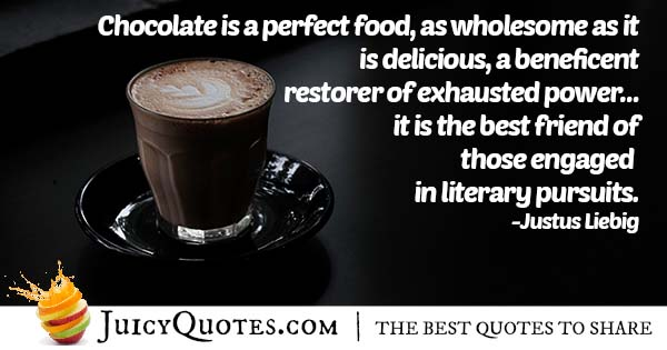 Chocolate Is Perfect Food Quote