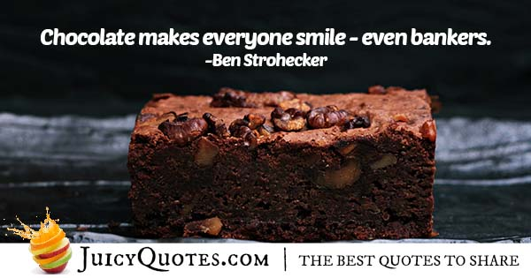 Chocolate Brings Smiles Quote