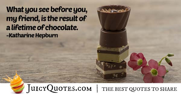 Lifetime of Chocolate Quote