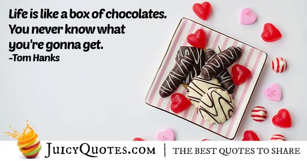 Life and Chocolates Quote