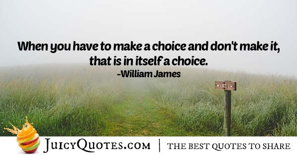 Making A Choice Quote