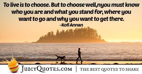 How To Choose Well Quote