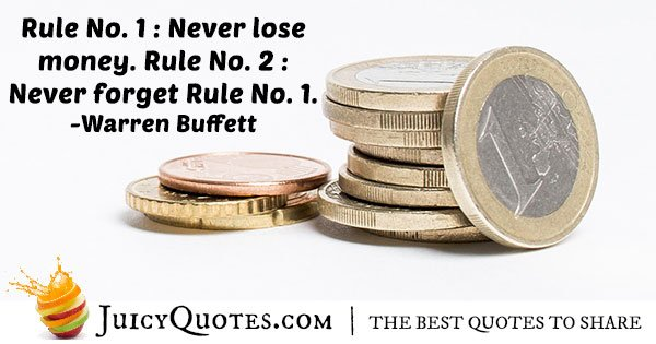 Don't Lose Money Quote