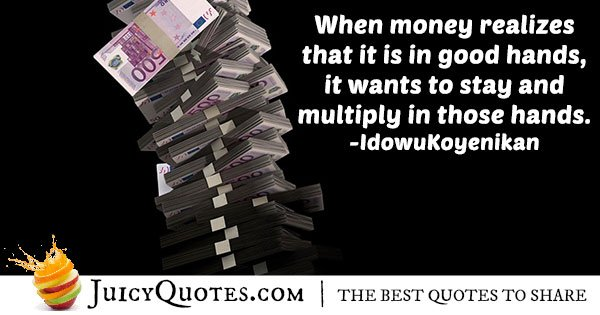 Multiplying Money Quote