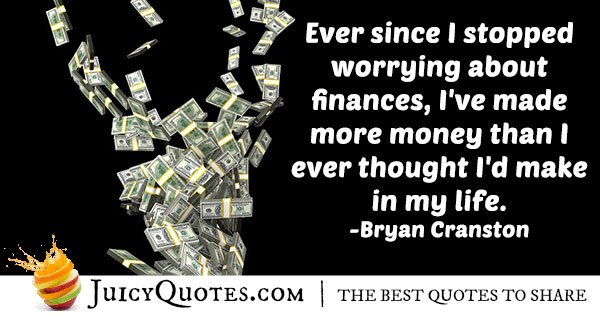 Don't Worry About Finances Quote