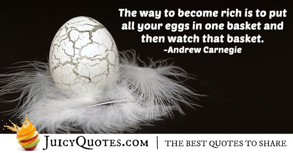All Eggs In One Basket Quote