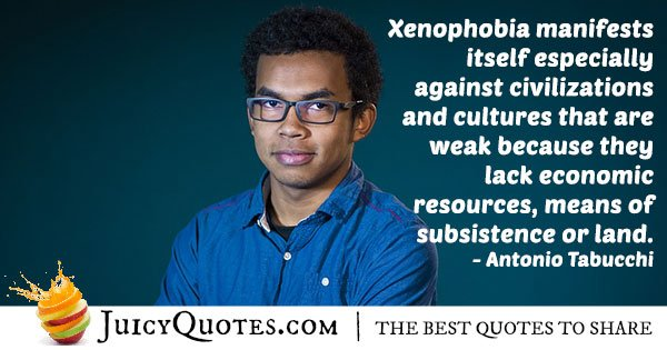 Xenophobia Manifestation Quote