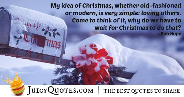 Christmas Quote About Loving Others