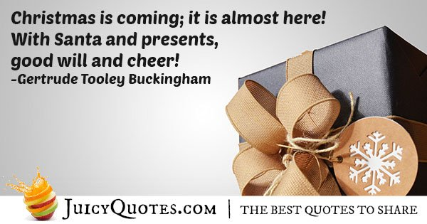 Christmas Is Coming Quote