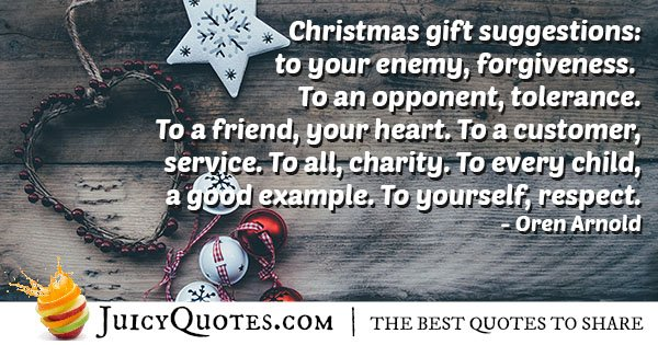 Christmas Gift Suggestions Quote