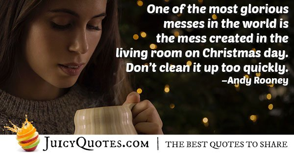 Christmas Day Mess Quote