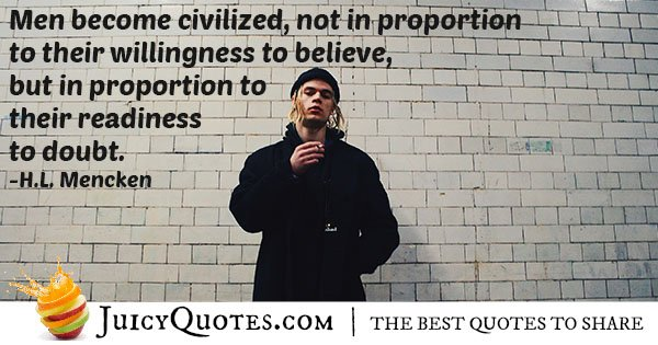 Become Civilized Quote
