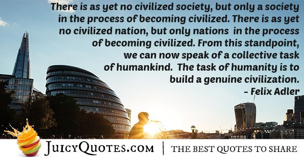 Becoming Civilized Quote