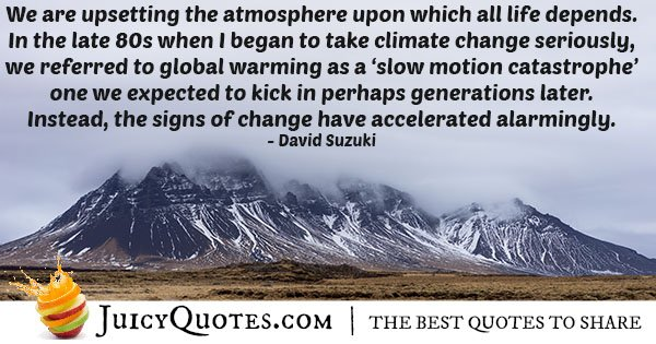 Atmosphere Climate Change Quote