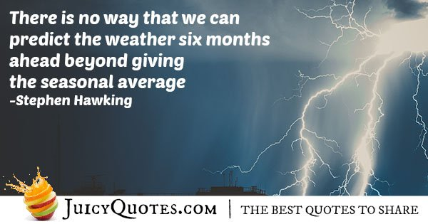 Predicting Weather Quote
