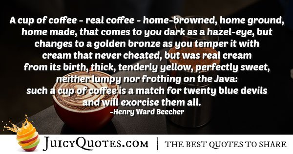 Home Made Coffee Quote