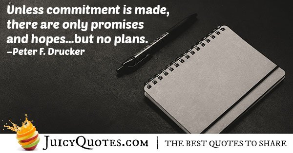 Making a Commitment Quote