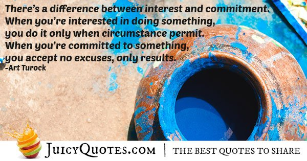 Interest VS Commitment Quote
