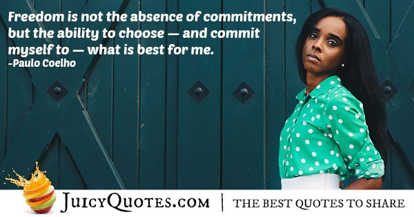 Absence of Commitment Quote