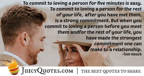 Commitment For Life Quote