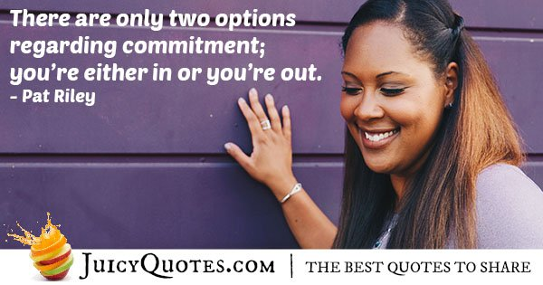 Quote Regarding Commitment