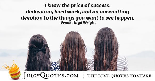 Price of Success Quote