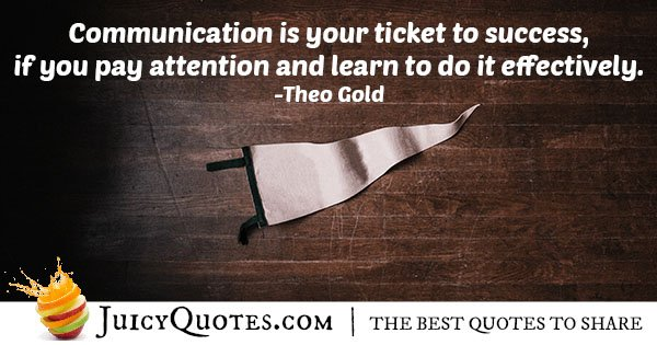 Success and Communication Quote