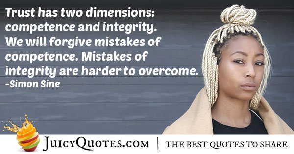 Competence and Integrity Quote