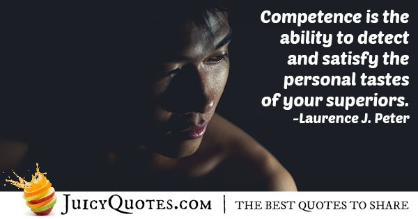Competence For Bosses Quote