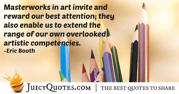 Artistic Competence Quote