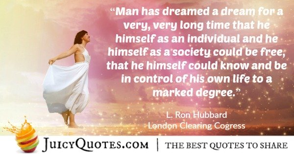 scientology quote by l ron hubbard 39