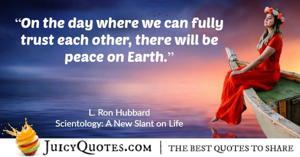 scientology quote by l ron hubbard 40