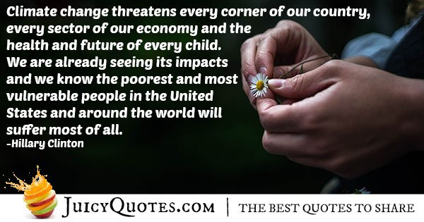 Climate Change Threats Quote