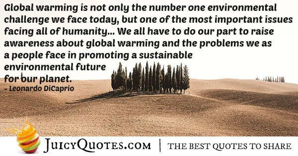 Global Warming Challenge Quote