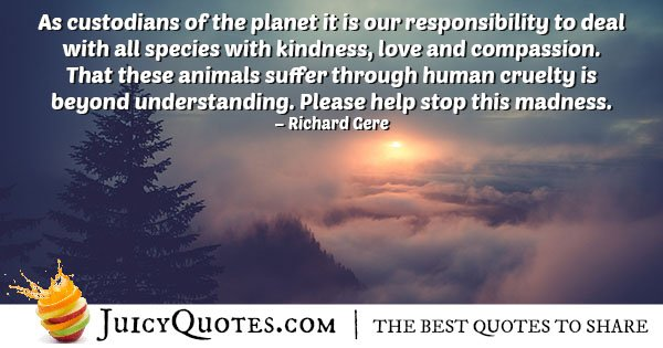 Custodians of the Planet Quote