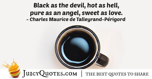 Black Coffee Quote