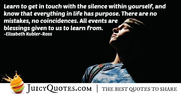 No Coincidences Quote