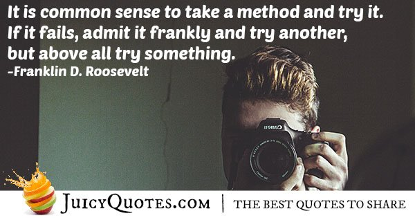 Common Sense to Try Quote