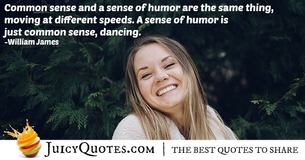 Common Sense and Humor Quote