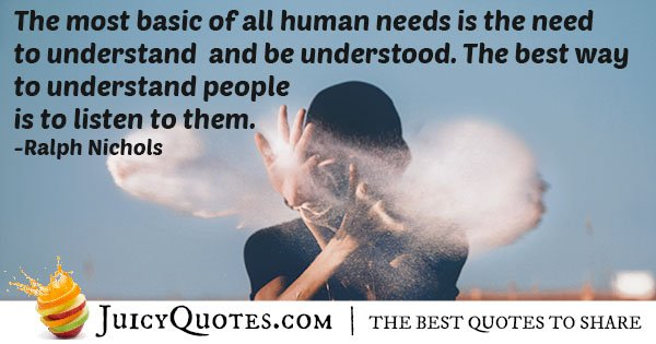 Listening and Understanding Quote