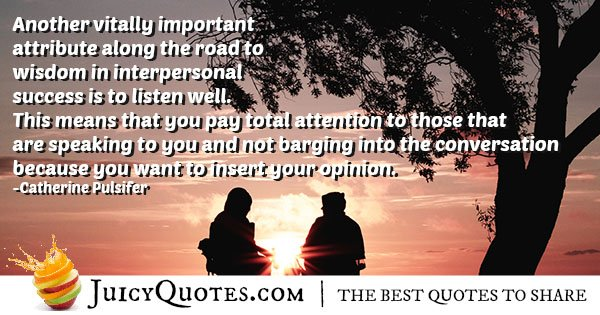Listen to Communication Quote