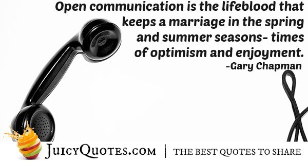 Communication and Marriage Quote