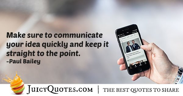 Communicate Ideas Quote
