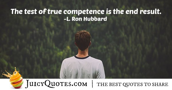 Test of Competence Quote
