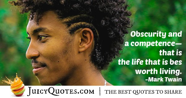Obscurity and Competence Quote