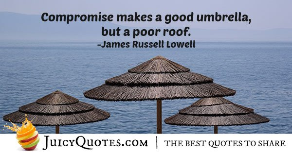 Poor Compromise Quote