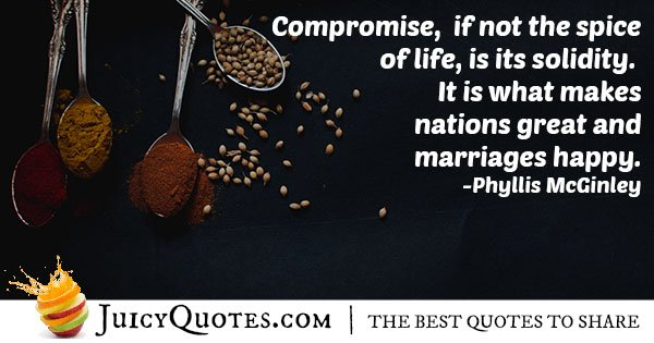 Compromise and Life Quote