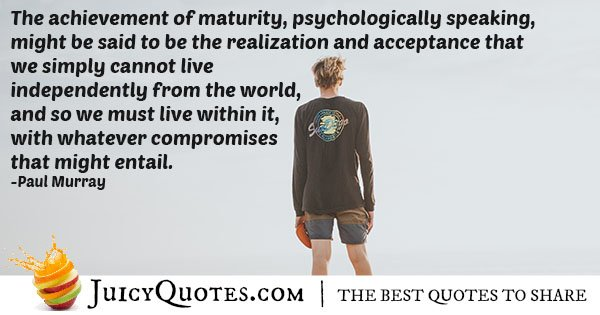 Living and Compromising Quote
