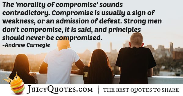 Morality of Compromise Quote