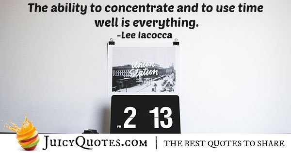 Ability to Concentration Quote